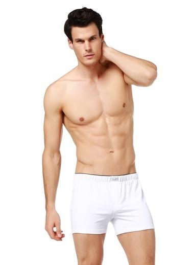 Guda Erkek Boxer Havlu Bel 13852  Beyaz